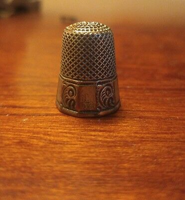 Antique Sterling Silver Thimble by Ketcham & McDougall *