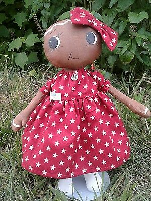 "Primitive Folk Art Gingerbread girl  shelfsitter OOAK collectible 13"" Julye"