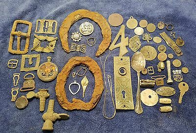 metal detecting finds lot of 57 pieces