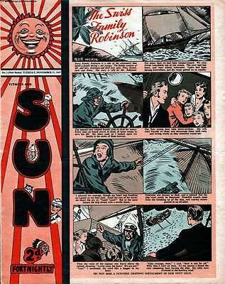 SUN - UK COMIC COLLECTION 1940s-1950s - 151 COMICS WITH VIEWING SOFTWARE