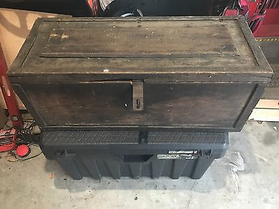 Large and Heavy antique treasure chest ( or toolbox ) from deep south.