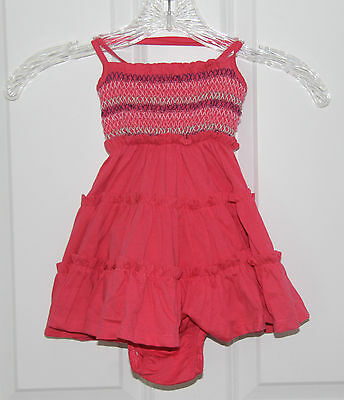 Willow Blossom Baby Girl Pink Dress And Underwear Size 12M Girls Kids New