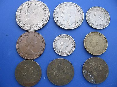 Lot of United Kingdom Coins - Vintage - 9 Coins