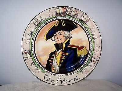 Vintage Royal Doulton , English Plate - The Admiral - D6278 - 10 3/8 Inch
