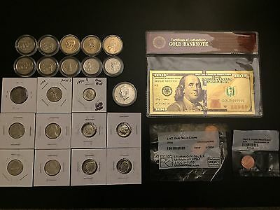 Uncirculated Proof Lot Dollars State Quarter 2000 P Set Kennedy Half S Mint Coin