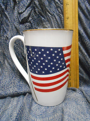Lenox Flag God Bless America United We Stand Twin Tower Fund Mug W/Sticker