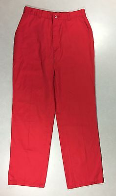 Womens Vintage Levis Red Pants High Waist Straight Leg Slacks Cotton Blend