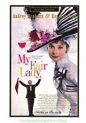 AUDREY HEPBURN In MY FAIR LADY MOVIE POSTER 30th Anniversay Cecil Beaton Dress !