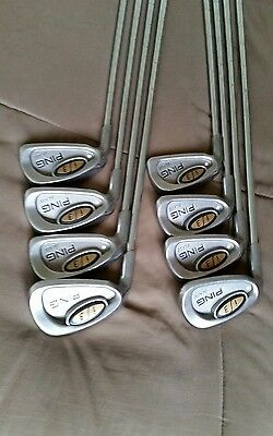 Mens Ping I3 Blade  4-U wedge Iron Set Left Handed White Dot Used Good Cond.