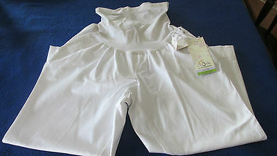 Oh Baby by Motherhood Maternity White Capris - Size~Large~ NWT~