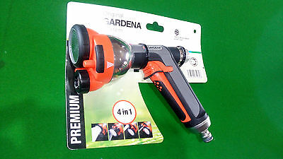 GARDENA TOP OF THE LIne 4 in 1 SPRAY GUN Adj Flow Rate.German Made Free post.