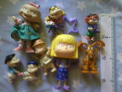 Rugrats toy figures - Tommy, Chuckie, Angelica, Lil twin, Spike - Nickelodeon