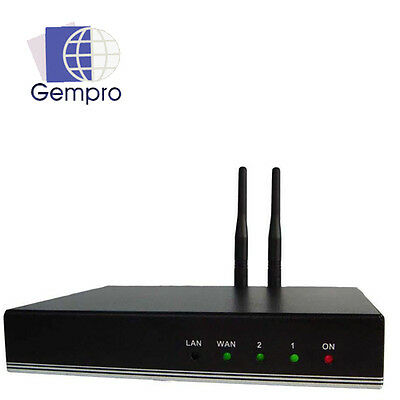 Gempro GP-712A Bluetooth VoIP Gateway 2 SIP Channel, Support: 3CX Asterisk 3G 4G