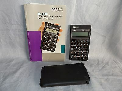 HP 32SII RPN Scientific Calculator with Owner's manual & Case