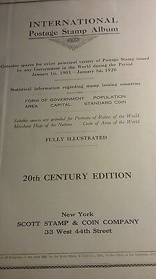 Scott International Postage Stamp Album 1901 To 1920 With 2300 Stamps Free Ship