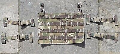 British Army MTP Osprey Ops Panel + T Bar Fittings Body Armour Vest Grade 1