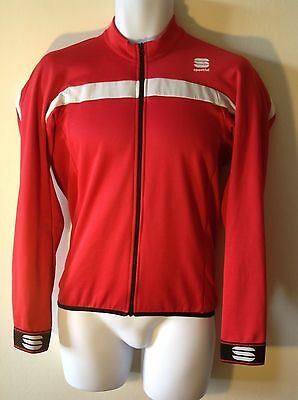 Sportful Pista Thermal long sleeve cycling jersey. Size medium. Red.