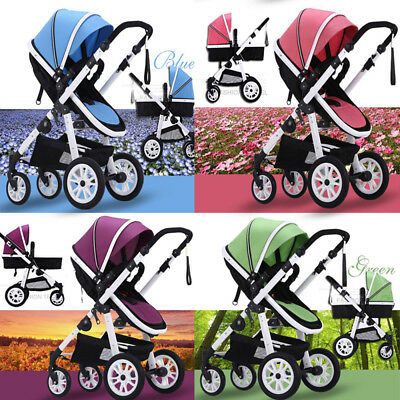 Baby Toddler Pram Stroller Jogger & Bassinet Travel System Kids Buggy Pushchair