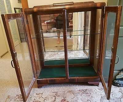 Art Deco Antique Vintage Display China Cabinet Pickup Northcote or Trentham