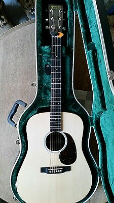 Martin DX1AE acoustic/electric guitar in hard case.