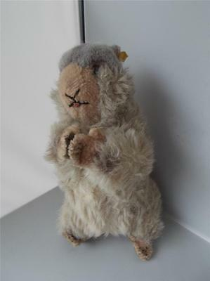 Vintage RARE STEIFF Cute Standing Beaver With Button & Label Plush Soft Toy 18""