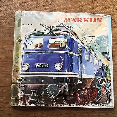 1950s Marklin Catalogue Model Train Railway Rail Interest German Toy HO Gauge
