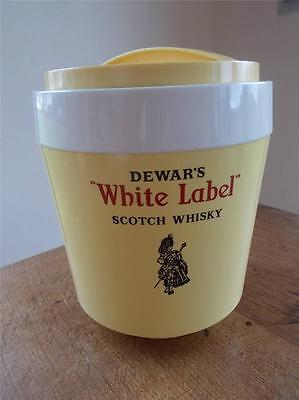 Rare 1970s Retro DEWARS WHITE LABEL SCOTCH WHISKY ICE BUCKET Piper & Bagpipes