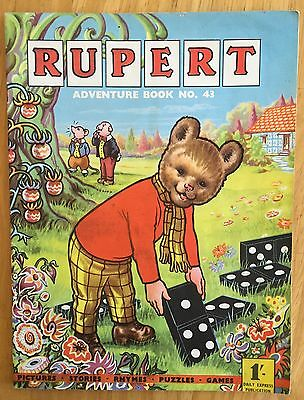 Rupert Adventure Series 43 Bestall 1960 All Puzzles Untouched Fine