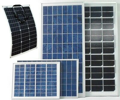 10w 20w 50w 80w 100w 200w PV Solar Panel for charging 12v or 24v battery system