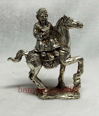 Collection of old handmade Miao silver sculpture rich statue