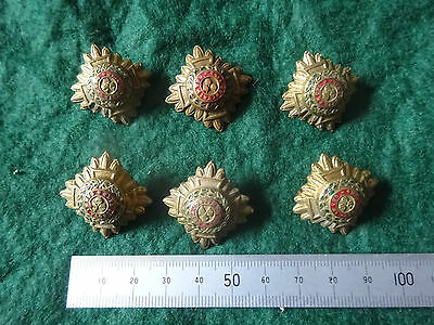 BRITISH ARMY Set of six Officer rank pips WW1/2