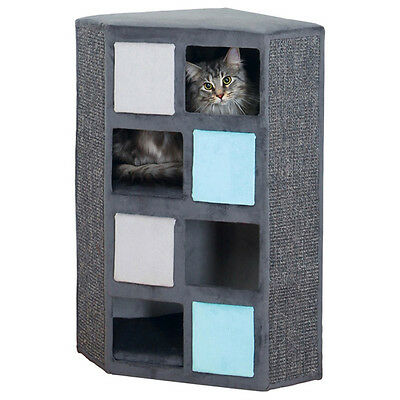 Trixie Chats Kratzbaum Cat Tower Pino gris/gris clair/turquoise, NEUF