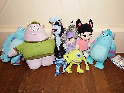 Big bundle Disney Monsters Inc University Mike Sulley Boo soft plush figure toy