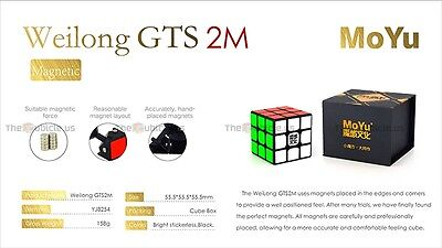 MoYu 3x3x3 Weilong GTS2M Version II Magnetic Magic Cube Puzzle Speed Cube Black
