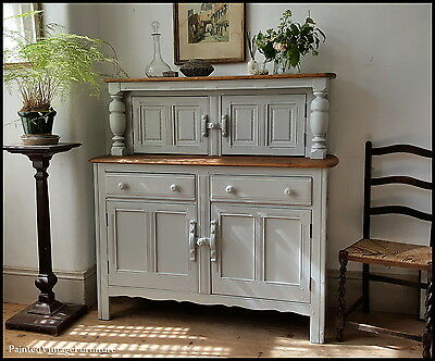 Beautiful Painted Vintage Ercol Sideboard Dresser Buffet Cupboard Farrow & Ball