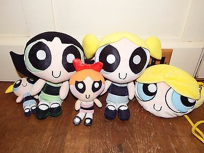 Bundle Powerpuff Girls soft plush figure toy Buttercup Blossom Bubbles cartoon