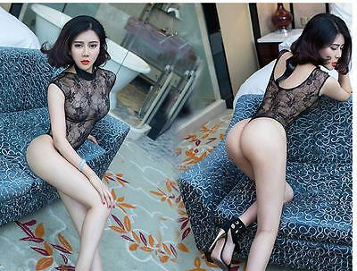 Sexy-Women's Lace Lingerie Nightwear Underwear  Babydoll Sleepwear DresS 2S-90