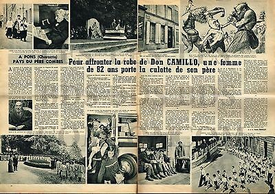 Doc/Clipping (Ref Ion 775) 1960 Emile COMBES à PONS (Charente maritime) 2p