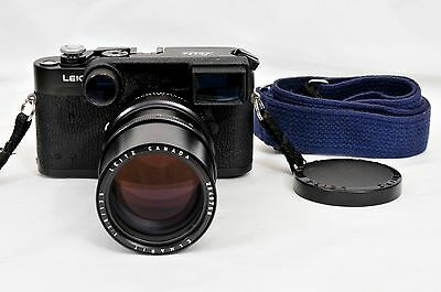 Leica M4-2 Camera Black Chrome Finish W/ Leica 135mm f2.8 Elmarit-M II Lens