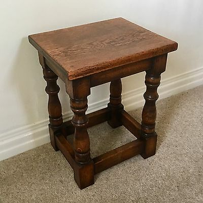 Small Antique Wooden Stool / Side Table
