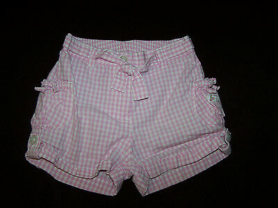 Janie and Jack Girls Toddler Shorts Size 18-24 Months Pink Gingham Checks