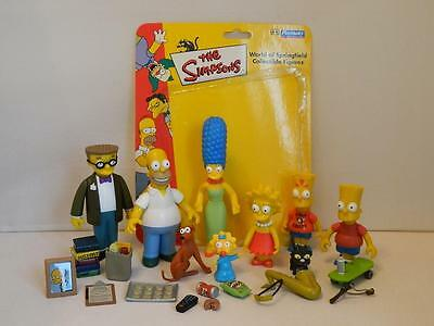World of Springfield Simpsons Figures - Homer Marge Smithers Bart Lisa With Acc.
