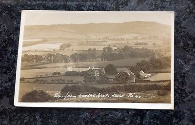 Old Postcard Of A View From Dunton Green In Kent