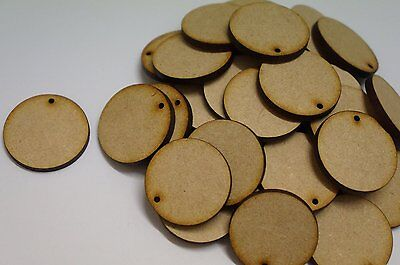 (10pc) MDF WOODEN CIRCLE SHAPES 3mm THICK WOOD BASE DISK 25mm, 50mm, 75mm, 100mm