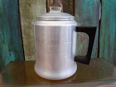 Vintage  Aluminum Coffee Pot. 7 cups USA CAMPING STOVE