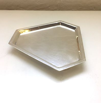 Mappin & Webb Silver Plated Card Tray Coin Art Deco Vintage Fine