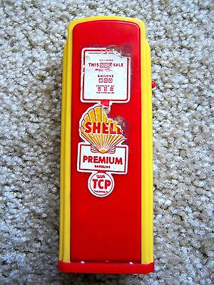 Vintage Plastic Shell Oil Gas Pump Bank Toy Gas Pump Toy Service Gas Station