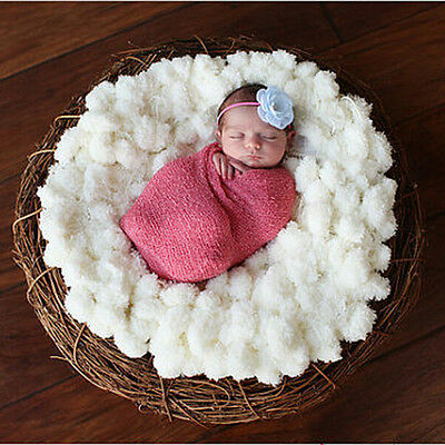 Fashion Newborn White Soft Photo Props Blanket Baby Clothes Accessories FO