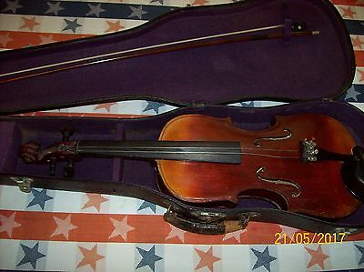 Old, Vintage or Antique 1892 Violin with Bow & Case