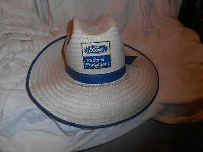 Ford Tractors Equipement straw hat vintage